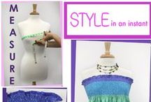 Style in an Instant / Just Measure, Pin & Sew! It's that simple