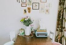 Ideas for Learning Spaces / Great ideas for homeschool rooms, homeschool organization, student desk areas, and other learning spaces in your home.