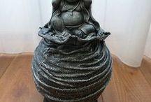 Boeddha Beelden / Altijd anders,uniek en gemaakt door mij. Webwinkel Decoratieve beelden, Kunst beelden, Figuren beelden, Abstracte beelden. Beelden voor in huis of tuin. Een Cadeau of Geschenk.