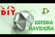 Reciclaje Navideño Recycle Christmas / Adornos navideños con material reciclado #reciclaje #diy #manualidades #navidad