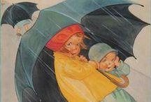 Piove / Immagini di ombrelli