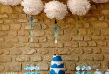 Rain, rainbow, sun & Cloud Party - Nuages, arcs en ciel, pluie et soleil / Idées et inspirations pour un anniversaire, un baptême ou encore une baby shower sur le thème de la météo : soleil, arcs en ciel, nuages et gouttes de pluie. Toute la décoration à retrouver sur www.rosecaramelle.fr