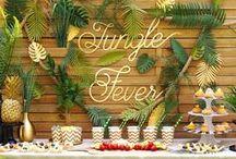 Jungle Fever / Mise en scène d'une table sur un thème Jungle pour une ambiance forêt Amazonienne.