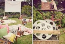Outdoor movie night / It's about to get reel! We took the Pinterventions pop-up to Philadelphia August 27 & 28 where we turned an empty alley into an outdoor movie theater all inspired by this collection of creative backyard movie ideas.  / by Pinterest