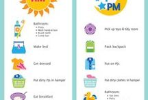 kids routine chart - morning and night