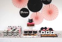 """Chat Party - Cat Party / Idée de mise en scène pour une sweet table sur le thème du chat """"miaou miaou"""""""