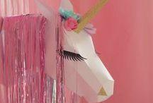 Licorne Party - Unicorn Party / Quelques idées pour réaliser une décoration de sweet table sur le thème des licornes
