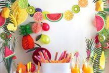Tutti Frutti Party / Idées déco et DIY autour des fruits