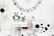 Panda Party / Idées et inspirations autour d'une fête d'anniversaire sur les pandas.