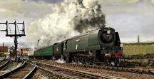 Railways: Steam Hauled Streamlined Trains. / Steam hauled streamlined trains.