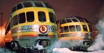 Railways: Diesel Hauled Streamlined Trains. / Diesel hauled streamlined trains (mostly North American but not exclusively)