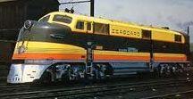 Railways: North American Diesel Locomotives. / North American diesel locomotives (rather than the trains they pulled).
