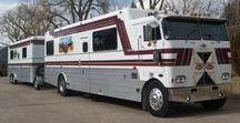 Outdoor Living: Campervan and Caravan Combinations / Motor caravans towing caravans.