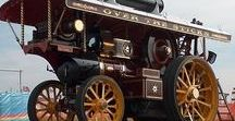 Road Locomotives and Steam Rollers / Traction engines and steam rollers.