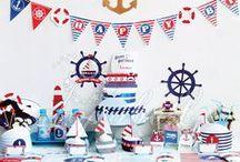 Nautical Party - Anniversaire thème marin / Idées et inspirations autour de la mer et des animaux marins.