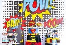 Superhero party - Anniversaire super héros / Idées et inspiration autour d'un anniversaire de superhéros !