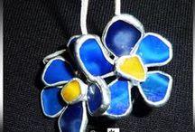 Biżuteria Witrażowa Bangle / Autorska Biżuteria Witrażowa wykonana techniką Tiffany. Wisiorki witrażowe.