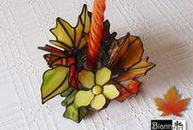Candle - Glass - Świeczniki - Witraż - Tiffany / Candle stained glass. Witrażowe świeczniki ze szkła wykonane ręcznie techniką Tiffany.