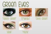 eyes, hair, and make up