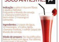 Sucos Naturais / Fotos com receitas de sucos naturais que auxiliam na boa forma e qualidade de vida.