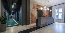 EC-5 / HOTEL INTERIORS - lobby and reception / TOBACO HOTEL / INTERIOR DESIGN OF HOTEL / Tobaco Hotel - lobby and reception by EC-5 Architects / Lodz Poland