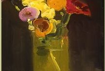 Flowers in painting