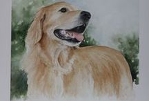 Pet Portraits by Lisa Robinson / Commissioned watercolors of your favorite pets! Exquisite details, delicately painted...Contact Lisa for more information.