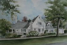 Watercolor Home Portraits by Lisa Robinson / Finely detailed commissioned watercolors of your home or business. Contact Lisa for more details.