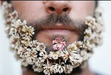 Stick a flower in it! / Beautiful floral beardiness inspiration