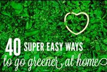 """Go Green!  / This planet needs us people! I love to take care of the planet and save money by """"going green"""" whenever possible."""