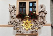 Prague houses / Buildings, house details and signs of Prague, Czechia