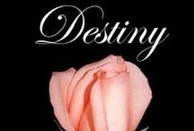 ~ 'Destiny' The Destiny Series book one ~ Author Deborah Ann ~ / At sixteen, athletic, honor student Danielle has her life planned out: study hard, play soccer even harder, and slide through high school under the radar. Until Cayden Bridwell—the longtime shy and brainy classmate she has ignored—rides in on his motorcycle and obliterates her plans.  Wealthy Cayden—recently learning that he is the chosen one, gifted with powers—has shyly stood back, knowing all along of their destiny to be together & waiting for the time to be right.