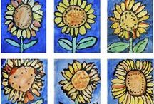 Sunflowers / To paint and create