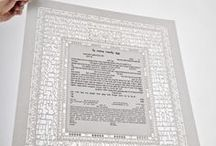 Ani Ledodi Ketubah /  The beauty of both letter and word, and the poetry of love are celebrated in the Ani Le- dodi-I am my Beloved's Ketubah. The art work is an exquisite tour de force in its rendering of Song of Songs 4, a poem that expresses a groom's adoration for his bride.  (you can view the ketubah here-http://www.ketubahazoulayart.com/index/)