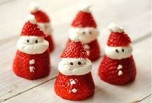 Christmas Desserts / Cookies, cupcakes, little red Santas….