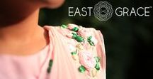 Baby Pink Rose Pure Chiffon Ribbon Handwork Saree / A beautiful bouquet of fragrant, pink roses. A royal pure chiffon touch. A whimsical romantic drape. It starts to feel like a poem. Here's more on E&G's Rose design.