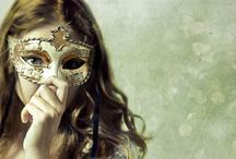 Masquerade... /  Masquerade! Paper faces on parade. Masquerade. Hide your face so the world will never find you.  / by Emery Foster