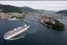 Beautiful Bergen - Norway. / New and Old pitcures.