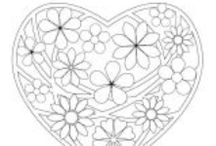 ✐ Colouring pages / Fine motor skills for developing artists. Free printable pages to colour in.