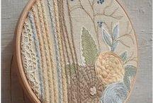❉ Crafts ❉ Embroidery Hoop / Embroidery hoop wall art.