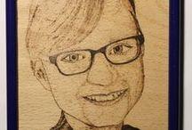 10 ~ Meine Brandmalereien - Portraits / Solche Dinge kann ich auch für dich/Sie basteln. Shop siehe unter www.ralfs-basteleien.de.