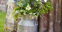 Milk cans ideas - #shabby chic, #cottage chic / Milk can ideas for shabby chic and cottage chic interiors. Flower vases. #milkcan #milkjug #shabby chic #cottage chic #flowers #vases #oldcan #vintage #vintageeuropedesign #vintageshop #etsy