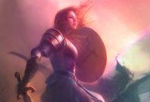 ArsT contest : Eowyn Vs Nazgul / Illustrazioni dell'epico scontro