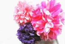 Les fleurs en papier!!