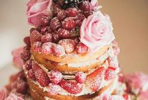 Naked cakes / Plain Victoria sponges layered up with summer fruits and flowers!! My new way of cakes