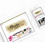 Blogs / Pasta de inspiração de blogs e identidade visual! Design para blog, Branding para blog, Criando presença digital, Layout para blog, Logo para blog, Enterpreneur, Small Business
