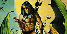 Edgar Rice Burroughs / The covers of the editions I owned in my distant youth!