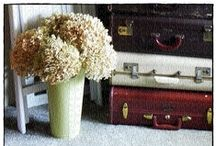 vintage suitcases / uses for vintage suitcases / by Shannon Olson -A Southern Belle With Northern Roots/Junkflirt