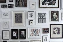 Fabulous Gallery Walls / Art, gallery walls, displaying art