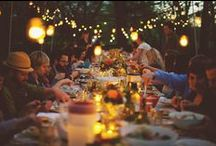 Gather / Table setting, get together, good times, fun with friends, dinner party ideas. / by Kristen A. Kerr